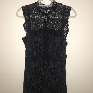 Zara Dresses - Zara Black/Green Lace Dress
